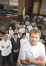 O chef escocês Gordon Ramsay comanda o reality <i>Hell's Kitchen</i>