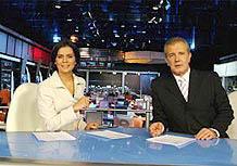 Adriana Araújo e Celso Freitas no Jornal da Record
