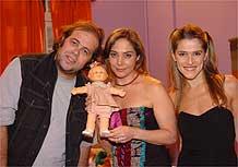 Otávio Muller com as colegas Heloísa Perisse e Ingrid Guimarães
