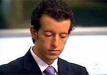 O candidato Pedro Frazão errouo nome de Roberto Justus e foi eliminado de O Aprendiz 4