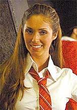 A atriz Anahí interpreta Mía na versão mexicana da novela Rebelde