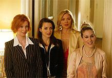 O quarteto de Sex and The City: Miranda, Charlotte, Samantha e Carrie