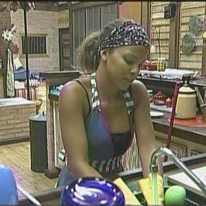 Cacau faz faxina na cozinha (08/01/2010)