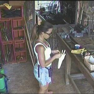 Cacau Melo em seu último dia como fazendeira (11/01/2010)