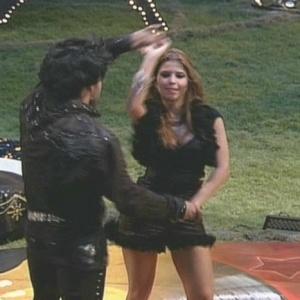 O casal Eliéser e Cláudia dança (17/01/10)