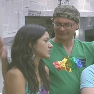 A paranaense conversa com o maquiador, que votou nela (18/01/10)