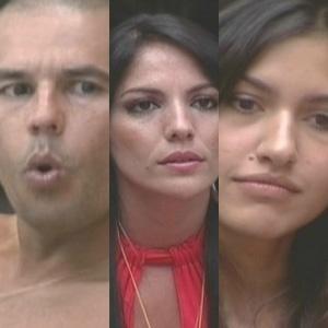 Alex, Anamara e Tessália estão no terceiro paredão do BBB 10 (31/1/10)