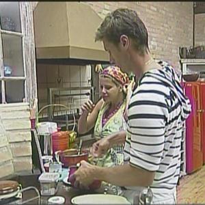 Após eliminação de Leozinho, André e Karina tomaram conta da cozinha