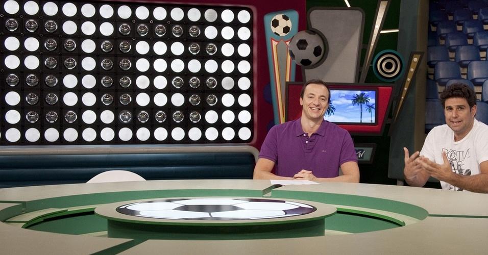"Paulo Bonfá e Marco Bianchi apresentam o ""Rockgol"" na MTV"