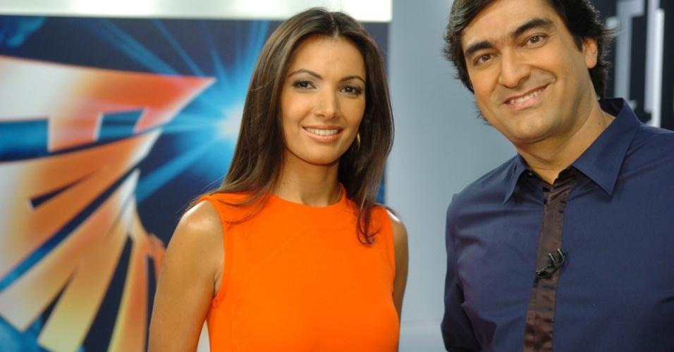 Patrícia Poeta e Zeca Camargo à frente do