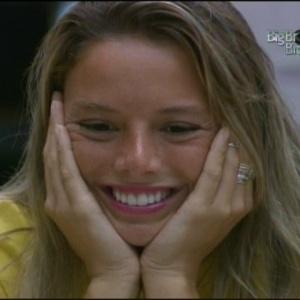 Fernanda fica nervosa ao saber que Bial vai comer bolo que ela fez para ele (29/3/10)
