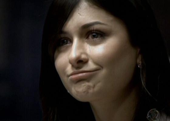 Aimée, ao ser demitida do Aprendiz 7 (6/5/2010)