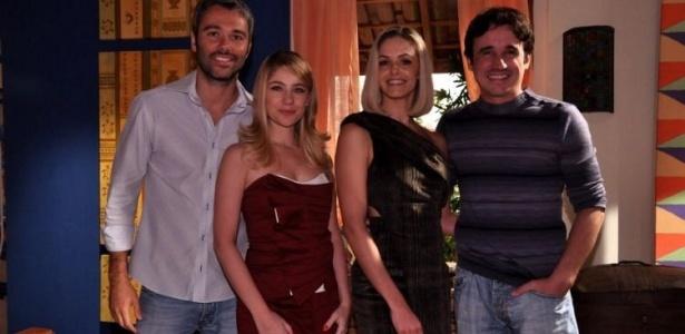 Ângelo Paes Leme, Juliana Baroni, Bianca Rinaldi e Caio Junqueira nos estúdios da Recnov, na zona oeste do Rio de Janeiro (11/5/10)