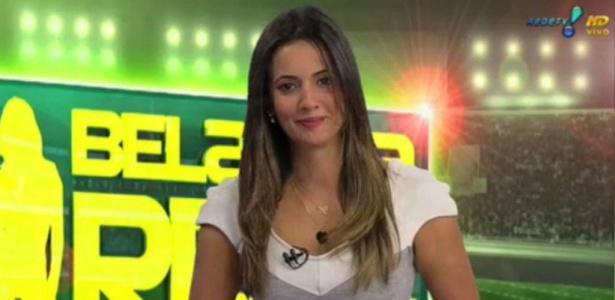 "Paloma Tocci apresentando o ""Bola na Rede"", da Rede TV!"
