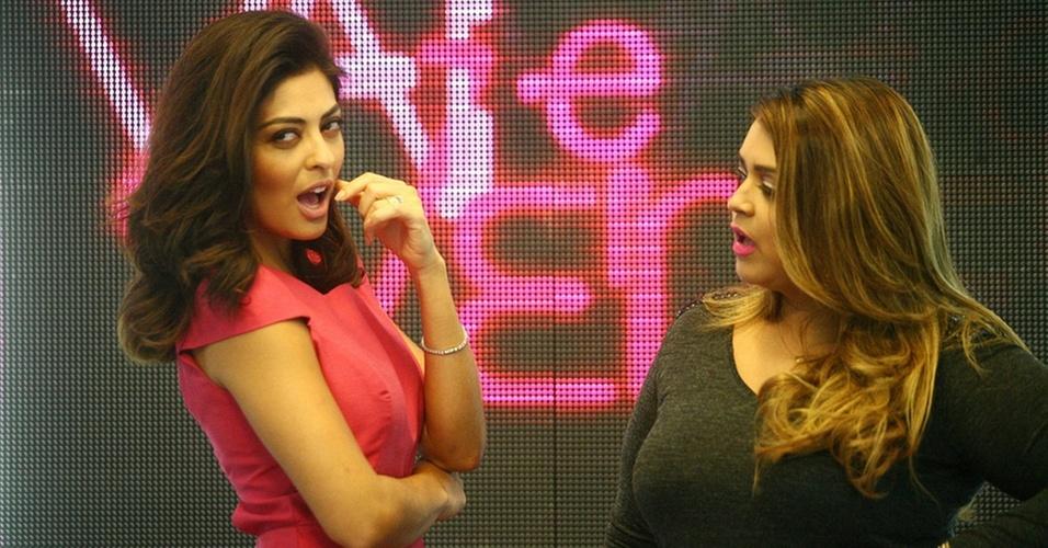 Juliana Paes e Preta Gil no programa