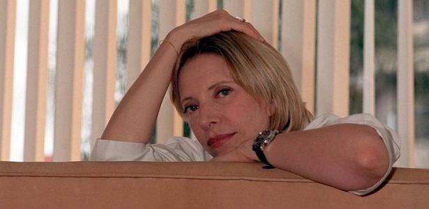 Jornalista e apresentadora Marília Gabriela posa para foto em sua casa, em São Paulo