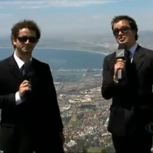 Felipe Andreolli e Rafael Cortez em Joanesburgo, na África do Sul