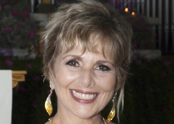 Irene Ravache durante gravação de