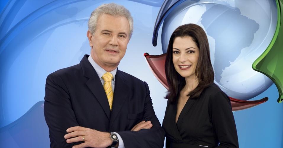 Celso Freitas e Ana Paula Padrão, apresentadores do