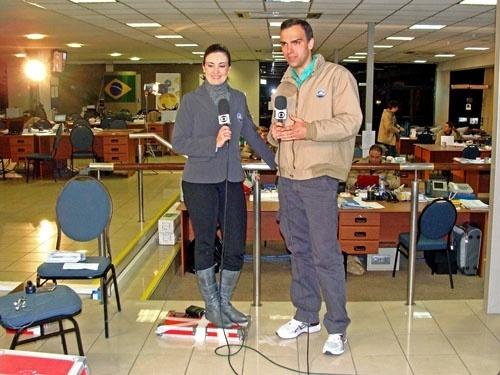 Fátima Bernardes e Tadeu Schmidt no Jornal Nacional (17/6/10)