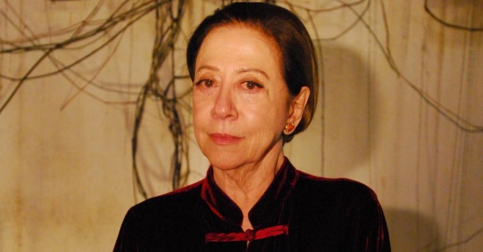 Fernanda Montenegro durante gravação de