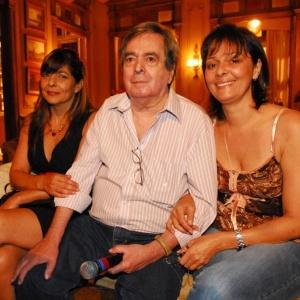 Benedito Ruy Barbosa entre as filhas Edilene e Edmara