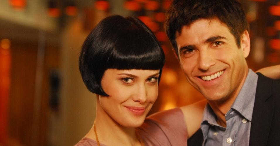 Melina (Mayana Moura) e Fred (Reynaldo Gianecchini) em