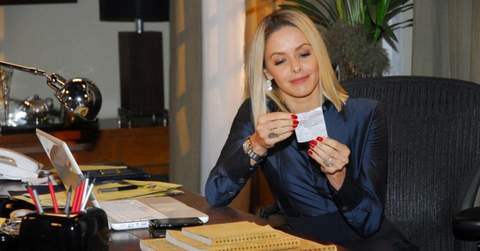 Bianca Rinaldi durante gravação de cena de