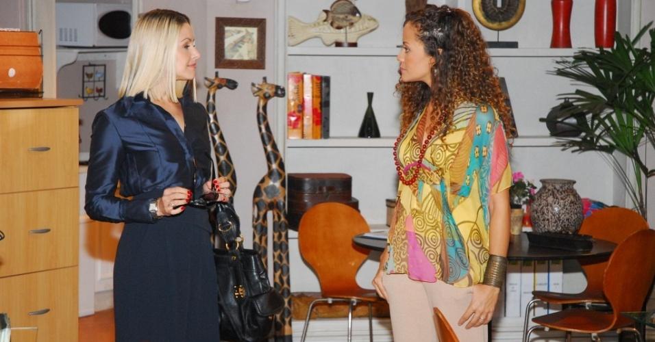 Bianca Rinaldi e Alinne Borges gravam cenas de