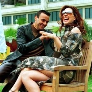 Alexandre Borges e Claudia Raia durante gravação de