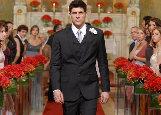Reynaldo Gianecchini na cena em que Fred é abandonado no altar. As imagens serão exibidas a partir do dia 26/7