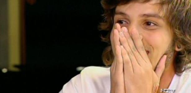 O capixaba Roobertchay parecia não acreditar que estava entre os 15 finalistas do programa