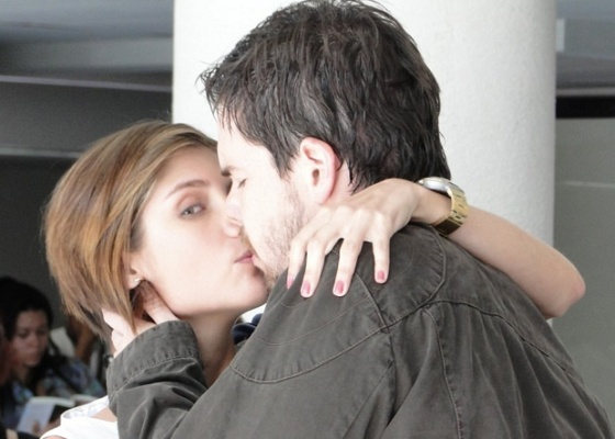 Tammy Di Calafiori e Gabriel Wainer durante gravação de Passione (7/8/10)