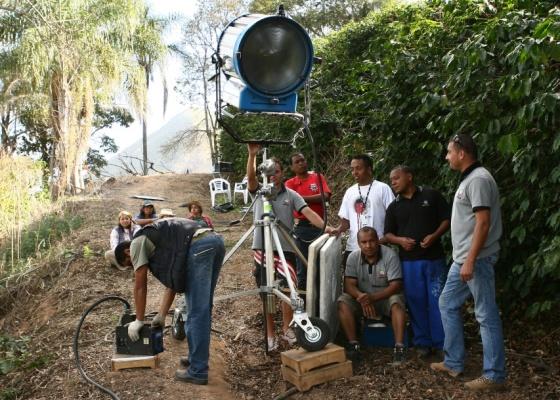 """Equipe técnica do SBT grava as primeiras cenas da novela """"Corações Feridos"""", em uma fazenda de café na cidade de Serra Negra, interior de São Paulo (ago/2010)"""