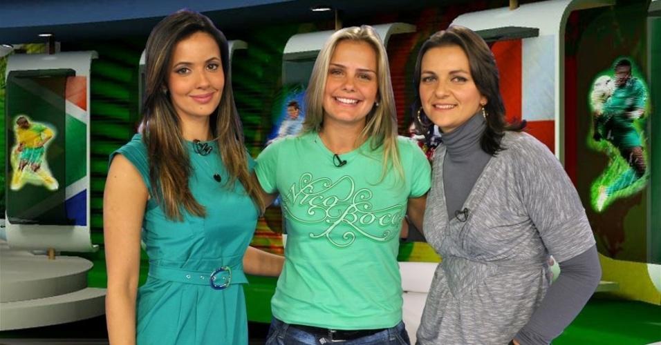 Paloma Tocci (à esq.), Milene Domingues e Juliana Silveira (à dir.) estreiam o