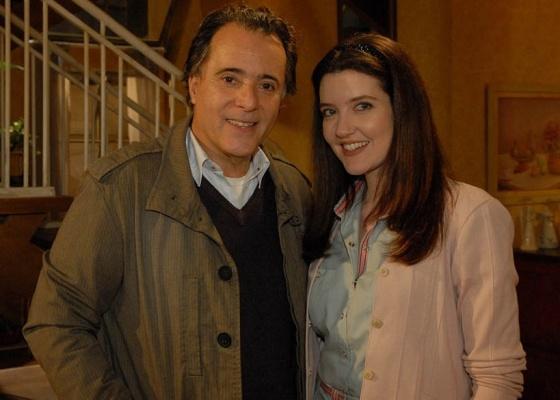 Tony Ramos e Larissa Maciel em cena de Passione