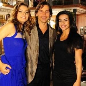 Milena Toscano, Murilo Rosa e Cleo Pires durante coletiva de imprensa de