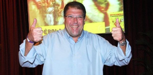 O apresentador Luciano Faccioli no Troféu Nota 10, em São Paulo (9/3/2010)