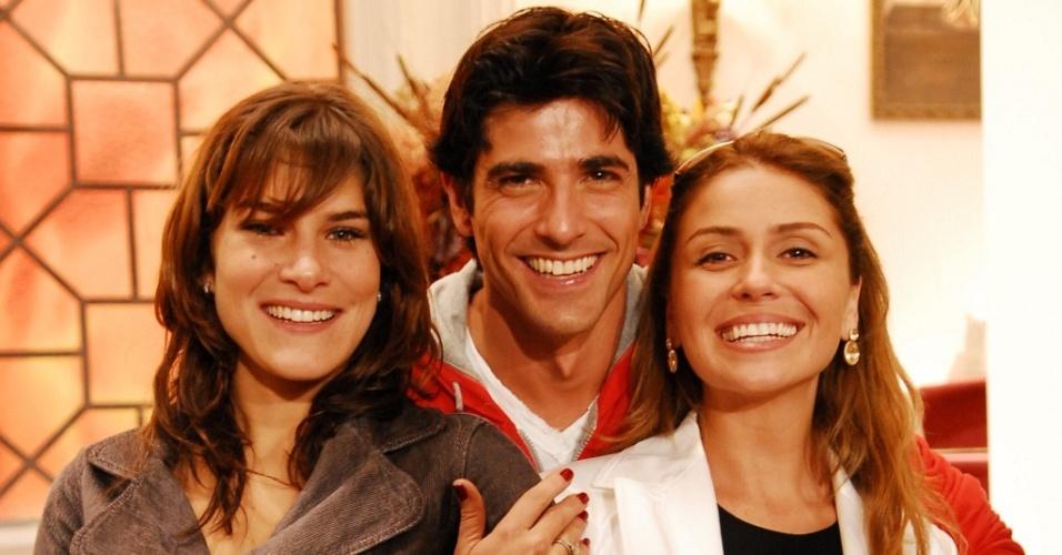 Da esquerda para a direita: Priscila Fantin, Reynaldo Gianecchini e Giovanna Antonelli, protagonistas de