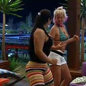 Mulher Melancia e Luiza Gottschalk sambam na varanda (14/10/10)