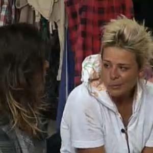 Luiza Gottschalk chora ao falar para Piu-Piu do cansaço que está sentindo (16/10/2010)