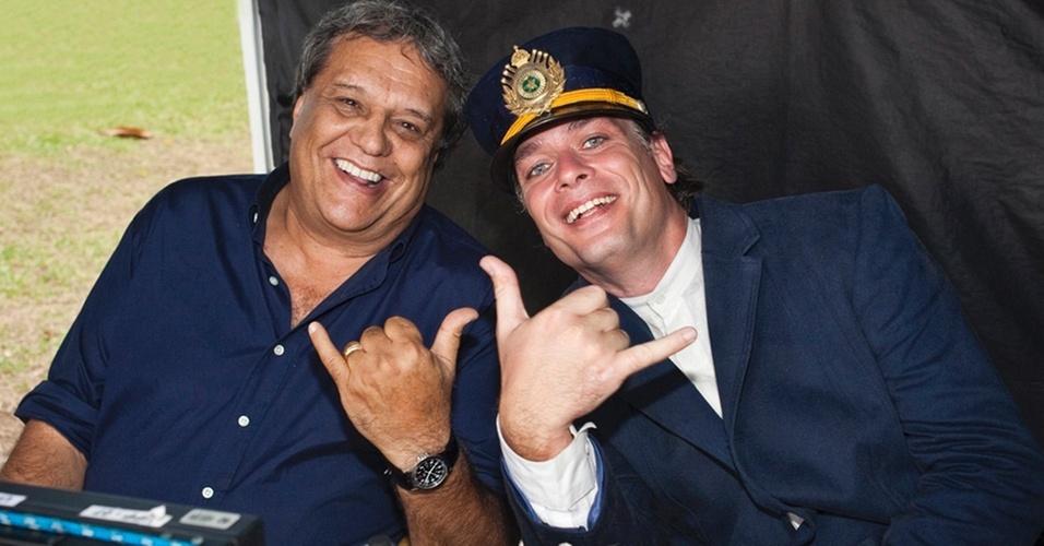 Dennis Carvalho e Fábio Assunção em cena de