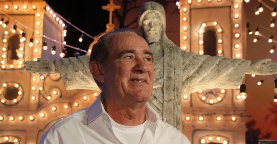 Renato Aragão na gravação do especial de fim de ano da Globo,