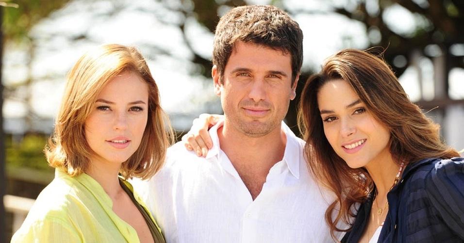 Paola Oliveira, Eriberto Leão e Fernanda Machado gravam