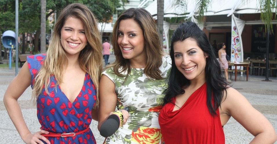 Fani, Lia Khey e Priscila, ex-bbbs, no