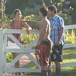 Sergio Abreu dá bronca em Lizzi Benites (19/12/10)