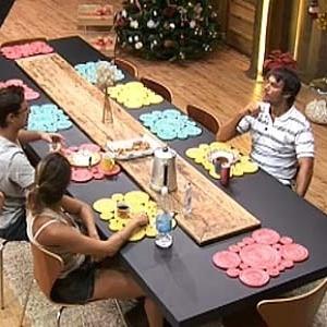 Lizzi, Sergio e Daniel tomam café na noite desta segunda (20/12/10)