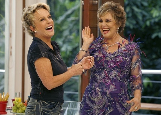 Ana Maria Braga e Irene Ravache durante gravação de Passione (janeiro/2011)