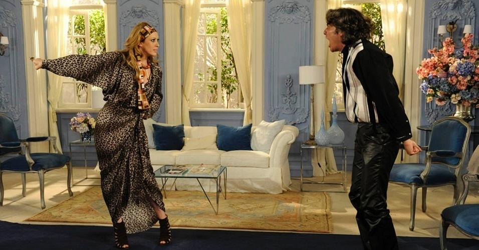 Claudia Raia e Alexandre Borges em cena de