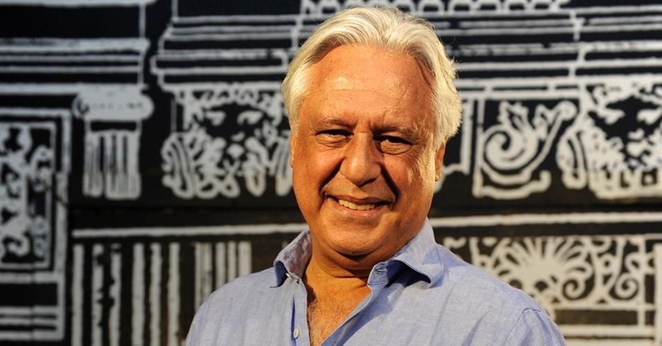 Antônio Fagundes na coletiva de imprensa de